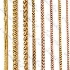necklace chains styles images 18k yellowrose gold filled necklace wheat snake rope necklace gold jpg