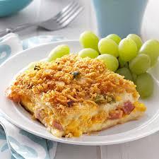 ham u0027n u0027 cheese strata recipe taste of home
