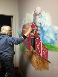 family resource center for eau claire county inc farm mural at cyndee is well known in the chippewa valley for her many murals and we were fortunate to have her just stop in one day with an offer to paint one for