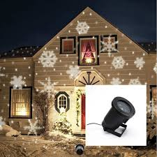 indoor outdoor automatically led moving snowflakes spotlight l