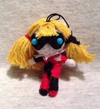 harley quinn in batman voodoo string doll keyring keychain ebay