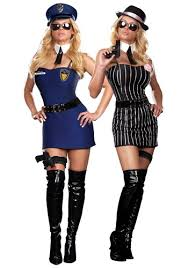 Halloween Costumes Reversible Gangster Costume Playing Dress