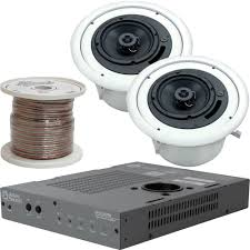 atlas sound 70w ceiling mounted sound system for a v and b u0026h