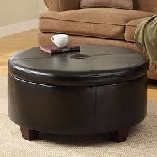 Leather Ottoman Round by 12 Best Coffee Table Storage Images On Pinterest Round Coffee