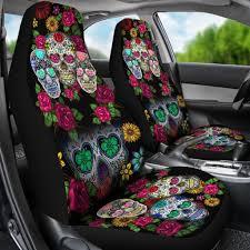 sugar skulls for sale buy sugar skull black car seat covers set of 2 seat covers