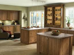 rustic wood species and clean door styles give this kitchen an