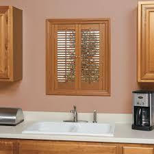 Interior Wood Shutters Home Depot Homebasics Traditional Faux Wood Oak Interior Shutter Price