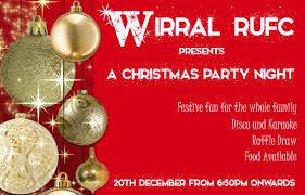 christmas party night u0026 raffle draw club calendar wirral rufc