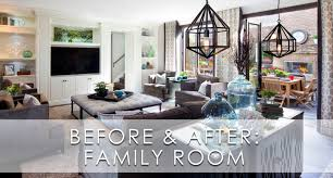 hamptons inspired luxury family room before and after san diego