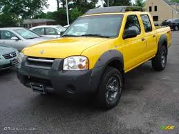 nissan frontier crew cab 4x4 2001 solar yellow nissan frontier xe v6 crew cab 4x4 11899063