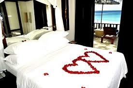 chambre a coucher amoureux déco romantique dans la chambre à coucher pour st valentin
