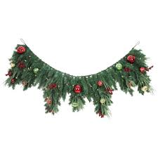 home accents 6 ft led pre lit jolly artificial mantel