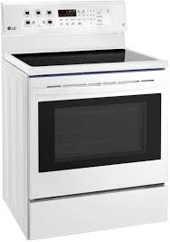 lg lre3193sw 30 inch electric freestanding range with smoothtop