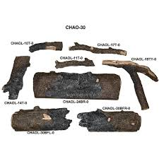 peterson real fyre 30 inch charred american oak gas log set with