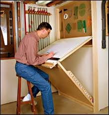 Fold Up Drafting Table Shop Drafting Table Wall Mounted Unit Is Sturdy Adjustable And