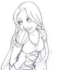 rapunzel sketch coy by saturnflight on deviantart