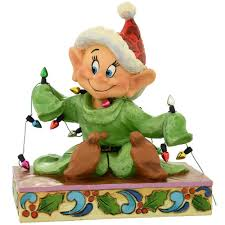 dopey with christmas lights jim shore disney traditions figure