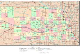 Missouri Road Map Nebraska Road Map