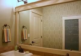 Bathroom Mirror Trim by Cool Framed Mirror Decorating Ideas Images In Bathroom Traditional