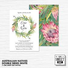 noosa native plants wedding invitation printable australian native flowers