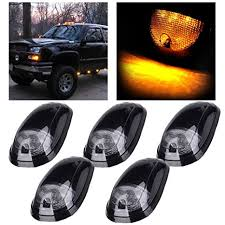 dodge ram clearance lights leaking amazon com cciyu 5 pack smoke cab roof lights markers kit with