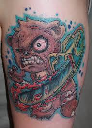 killer teddy bear tattoo tattoomagz