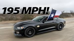 fastest stock mustang made 2015 hennessey mustang runs 195 mph