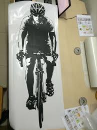 aliexpress com buy cyclist bicyclist bicycle wall sticker