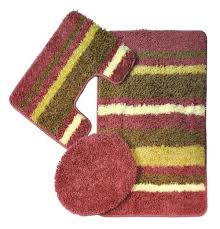 bath mats set avalon 3 bath rug set pink