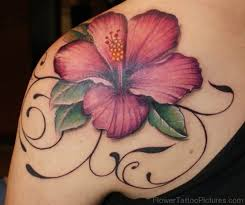 Large Flower Tattoos On - 93 hibiscus flower tattoos on shoulder