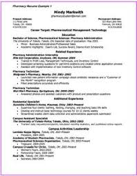Pharmacy Resume Examples by Gold Mine Of Examples And Resume Templates Http Resumesdesign