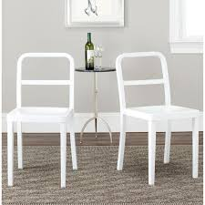 overstock dining chairs milania white leather dining chairs set of