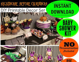 nightmare before christmas baby shower decorations nightmare before christmas birthday printable