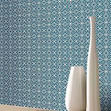 vibrant wallpaper geometric wallpaper modern retro shapes vibrant bright luxury blue