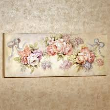 floral swag wooden wall plaque