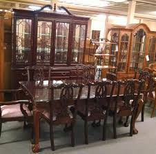 Stanley Dining Room Set by Stanley Table Chairs And Hutch Delmarva Furniture Consignment
