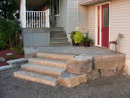 Patio Stones Kitchener Armour Stone And Raised Patio Appin Photo Gallery Patio