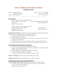 Resume Community Service Example by Social Work Resume Cover Letter