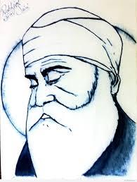 guru nanak dev ji pencil sketch drawing sketch picture