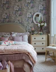 Vintage Bedrooms Pinterest by Pink Country Bedroom With Floral Wallpaper Bedroom Pinterest