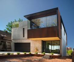 oklahoma case study house from facade and box shape wall building