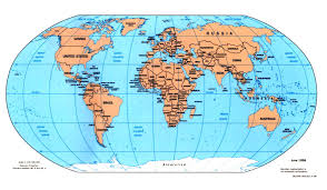 Printable World Map With Countries by World Map Bodies Of Water Maps Arctic Circle Worldmap Teaching