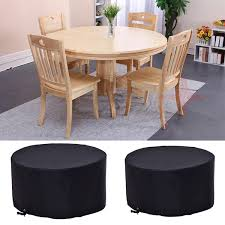 Patio Furniture Waterproof Covers - 4 6 seat circular table cover large round waterproof patio