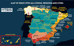 The Map Of Spain by The Real Spanish Map Regions Costas And Cities How To Buy In Spain