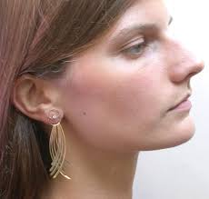 earing model kristin fringe crossing earrings