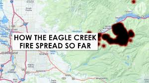 Oregon Fires Map How The Eagle Creek Fire Spread So Far Youtube
