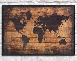 Planked Usa Wall Art Panels by Wood World Map Etsy