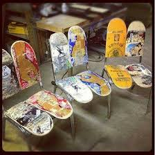 skateboard chairs unique skateboard furniture ideas 50 in home decor ideas with