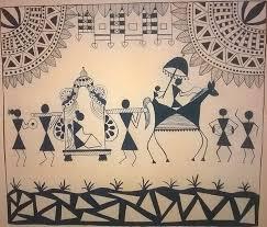 Warli Art Simple Designs Warli Art Poompuhar Blog