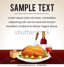 Thanksgiving Dinner Menu Template Roast Turkey Christmas Stock Vectors Images U0026 Vector Art